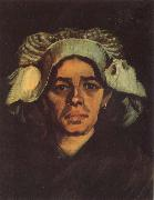 Vincent Van Gogh Head of a Peasant Woman with Whit Cap (nn040 oil painting picture wholesale